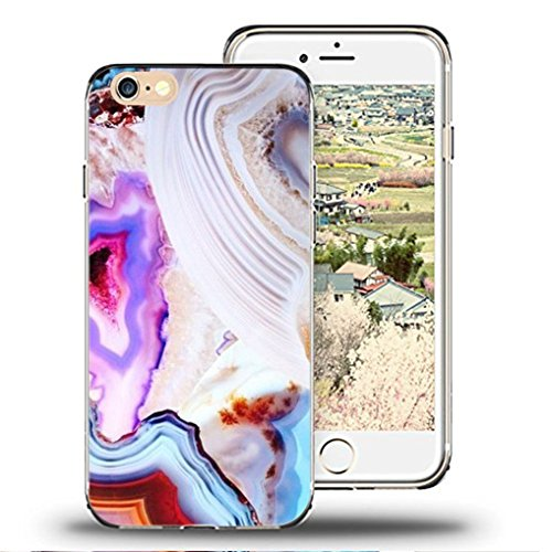 Custodia iPhone 6S/6 Cover di TPU Silicone Beautiful Landscape Pine Tree Modello molto sottile protegge il tuo iPhone 6S/6 con stile Cover e Bumper Case-marble triangle A32