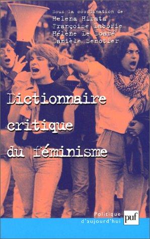 Dictionnaire critique du féminisme par Helena Hirata