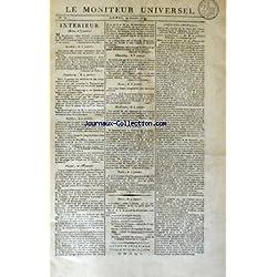 MONITEUR UNIVERSEL (LE) [No 10] du 10/01/1814 - INTERIEUR / PARIS - METZ - STRASBOURG - COLMAR - CHAMBERY - LYON - BORDEAUX - VESOUL - TURIN
