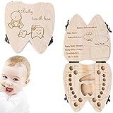 cuigu Zähne für Hochzeitsandenken, Milch Baby retten die Box Speicher-Speichern die Zeit Geschenk Geburt Taufe Geburtstag für Kinder Mädchen Jungen