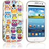 tinxi® Design Silikon Schutzhülle für Samsung Galaxy S3 i9300 Hülle TPU Silikon Rückschale Schutz Hülle Silicon Case mit vielen bunte Eulen Owl Muster