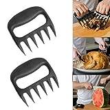 Rishx 2 Stücke/Paar Schwarz Bärentatze Fleisch Krallen Leicht Griff Pulled Pork Shredder Claws Lift Shred Transfer BBQ Fleisch Gabel Werkzeug