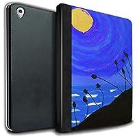STUFF4 PU Pelle Custodia/Cover/Caso Libro per Apple iPad Pro 9.7 tablet / Blu Marina / Tramonto Pittura a Olio disegno