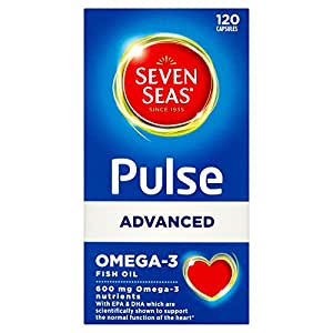 Seven seas pulse advanced omega 3 fish oil 120 capsules for Omega fish oil advanced support