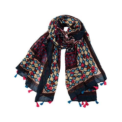 Easy Go Shopping New Frauen Schal Wintermode Böhmischen Stil Schals für Frauen Weiche Warme Balinese Garn Wrap/Schal -