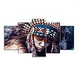 Y-XM Wandbilder leinwandbilder für lebendiges Haus Wandbild Bild der Indianer Home Dekoration Gemälde ohne Rahmen