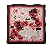 'hesg 32Silk Sciarpa Da Donna Moda Collana Grande Satin Foulard Sciarpe Square copricapo, rosso