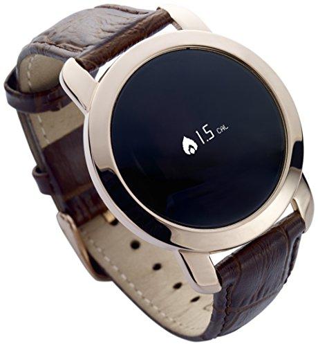 MYKRONOZ KRZECIRCLE-PREM-FLAT-PINK Premium Fitnessband (Schrittzähler, Uhr, Bluetooth) rot/gold
