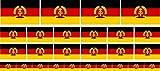 Mini Aufkleber Set - Pack glatt - 4x 51x31mm+ 12x 33x20mm + 10x 20x12mm- selbstklebender Sticker - DDR Flagge / Banner / Standarte fürs Auto, Büro, zu Hause und die Schule - Set of 26