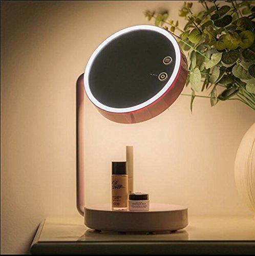 2 in 1 LED Kosmetikspiegel Tischlampe Touch Screen 180 Grad Verstellbare Halterung, USB...