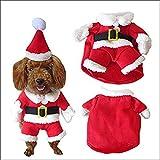 Rokoo Haustier Weihnachten Kostüm Hund Anzug mit Kappe Santa Claus Mantel Hoodies für kleine Hunde Katzen Lustige Welpen Weihnachten Party Kleidung