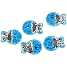 10 parches termoadhesivos peces lentejuelas azul para cazadoras niños, gorras, bolsas, pantalones... scrapbooking, costura.. de OPEN BUY
