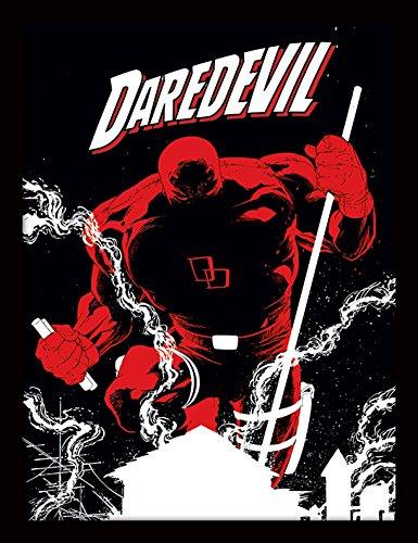 Pyramid International Marvel Extreme (Daredevil) 30x40 cm gerahmter Druck, 250GSM PAPERWRAP MDF, Mehrfarbig, 44 x 33 x 4 - Elektra Marvel Kostüm