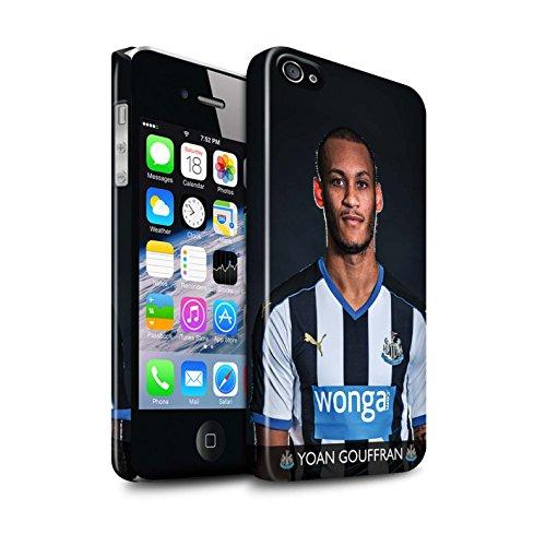 Officiel Newcastle United FC Coque / Clipser Brillant Etui pour Apple iPhone 4/4S / Pack 25pcs Design / NUFC Joueur Football 15/16 Collection Gouffran