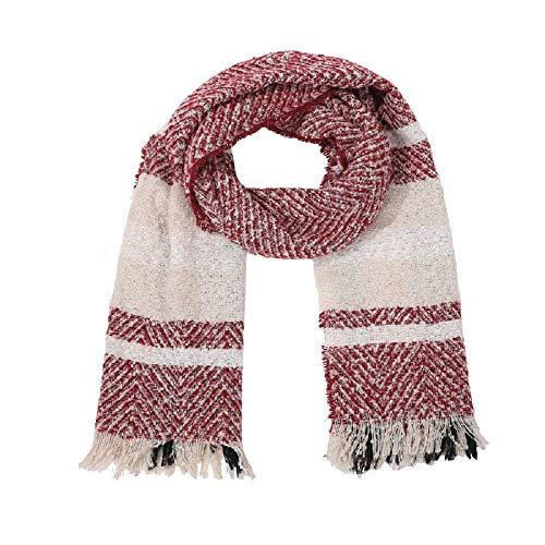 Easy Go Shopping New Damen Plaid Blanket Winter Schal Kaschmirgitter Warm Tartan Wrap Classic Schal Schal Cape (Color : White, Size : 33-1/2 x 17-3/4 Inch) -