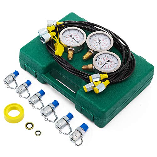 BananaB messkoffer hydraulik 9000PSI Hydraulic Pressure Tester 60MPA Manometer Tester messkoffer manometer Hydraulic Pressure Gauge Kit for Excavator Machinery -