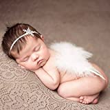 HENGSONG Foto Prop Neugeborene Baby Kostüm Engelsflügel Feder Flügel mit Stirnband Fotografie Kostüm