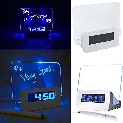 HDKHFL Reloj Despertador Calendario Digital Fluorescente