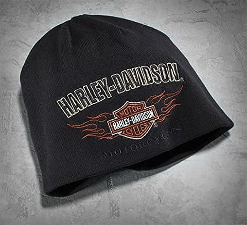Chapeau Bonnet réversible Orig. Harley Davidson Flame Knit Hat 99509–12vm idée cadeau