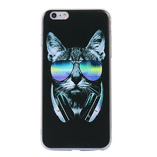 Coque iphone 6/6s, iphone 6/6s Etui TPU , Cozy Hut Sexy Ass Motif Mode Etui Coque TPU Slim pour iphone 6/6s (4.7 pouces) Mode Flexible Souple Soft Case Couverture Housse Protection Anti rayures Mince  Casque chat