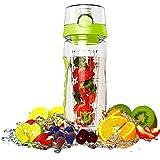Trinkflasche für Fruchtschorlen, DEGBIT® Wasserflasche Sport, Flasche 946ml/32oz, [BPA Freies Tritan] Trinkflasche Sport / Trinkflaschen Infuser mit auslaufsicherem Deckel + Verschluss & Tragehenkel