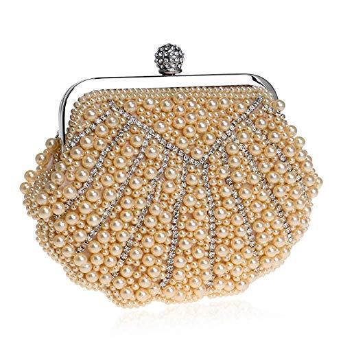 Kupcak Shell Pearl Lady Dinner Kleid Clutch Bag Tote Ball Abend Paket Champagner - Pearl-kleid