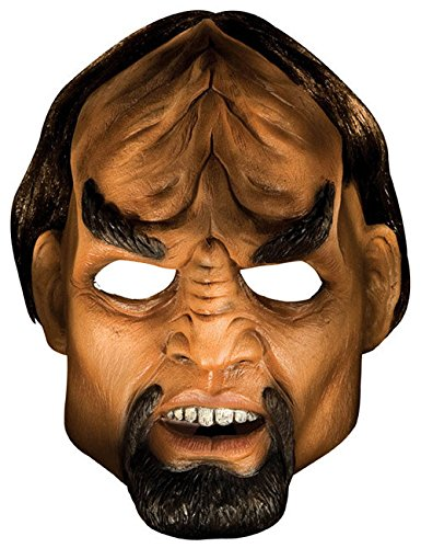 Star Trek Worf Latex Maske Deluxe hautfarben ()