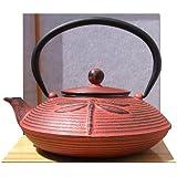 Cast Iron Sunset Red Dragonfly Tetsubin teapot kettle 0.8 litre Japanese style