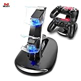 Generic Black : MIJOY Charging Dock For PS4 Gamepad Quick Dual USB Charging Dock Stand Charger For PlayStation4 PS4 Gamepad Charger Accessoriess