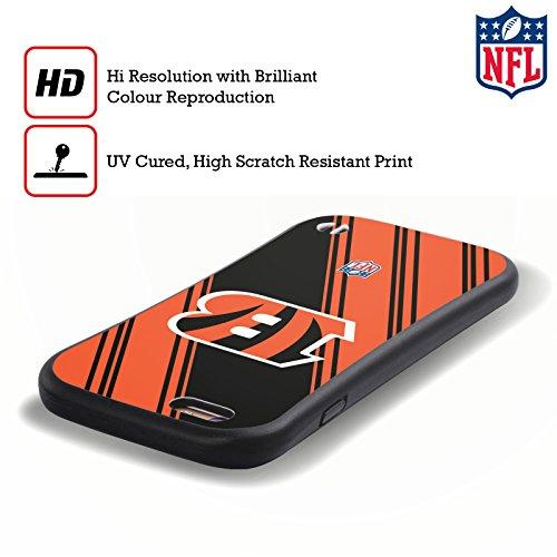 Ufficiale NFL LED 2017/18 Cincinnati Bengals Case Ibrida per Apple iPhone 5 / 5s / SE Righe
