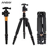 Andoer Q-666 Pro SLR Camera Tripod monopiede Ball Head Changeable Traveling Compact Portable immagine