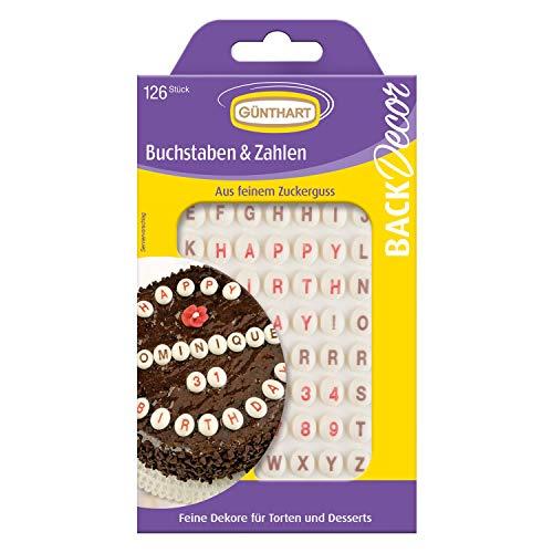 BackDecor Buchstaben und Zahlen Zuckerknöpfe   Happy Birthday