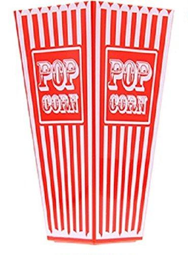Retro gestreift American Kunststoff Popcorn Halter 20cms Hoch ca. Badewanne Popcorn Box für kinobesuche Cinema Parteien Theater
