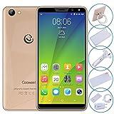 GOOWEEL M5 Plus Smartphone Pas Cher - 5,99 Pouces IPS Afficher - Téléphone Portable Debloqué - Android 5.1-1Go + 8Go - 5MP+2MP Double Caméras - 2600mAh Batterie - Téléphonie Mobile 3G - GPS - Or