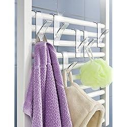 Wenko - Percheros para radiador toallero eléctrico (6 unidades)
