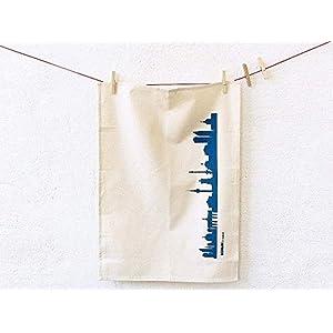 Berlin Motiv Design Geschirrtücher 3er Set rot blau schwarz, 50×70 cm 100% Baumwolle (Bio), Geschenk Geburtstag Mutter…