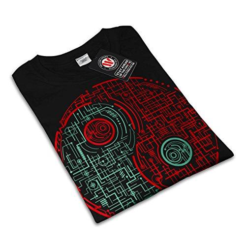 Symbol Dunkel Licht Japan Damen S-2XL T-shirt | Wellcoda Black ...