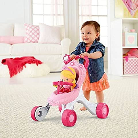 Fisher-Price Princess Stroll-Along Musical Walker and Doll Gift Set Batteries
