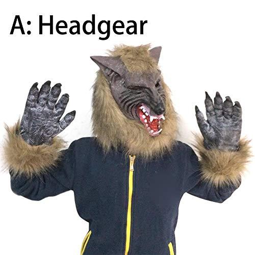 Genial Kostüm Werwolf - Eternitry Wolf Maske Cosplay Tierkopf Halloween Kostüm Maske Horror Lustige Party Genial
