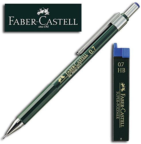 Faber-Castell SUPER-POLYMER Feinminen Etui (1 Dose + Stift, 0,7 HB)