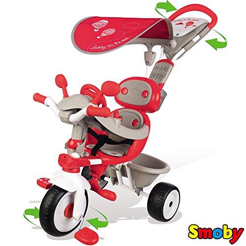 Dreirad Baby Driver Comfort, Sonnenschutz, Lenkfunktion und Flüsterräder: Baby Driver V Comfort Kinder Dreirad Trike Kinderdreirad Schiebestange