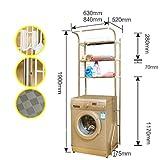 GW Edelstahl Trommel Waschmaschine Regal Balkon Badezimmer WC Multifunktionale Lagerregal,S
