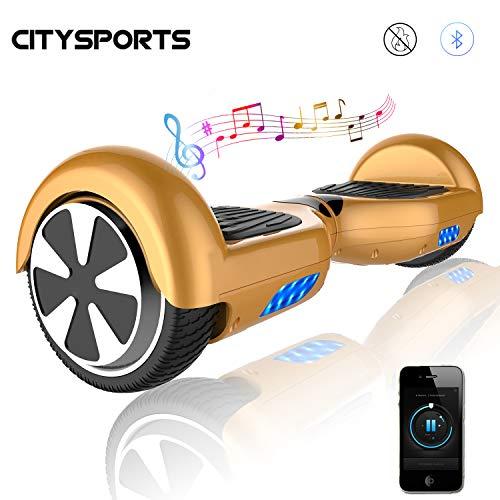 CITYSPORTS Balance Board 6.5 Zoll, Elektro Scooter, Elektro Self-Balancing Smart Scooter 2x350W mit LED Bluetooth