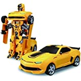 Vikas gift gallery Battery Operated converting car to Robot, Robot to car Automatically, with Light and Sound for Kids, Multi