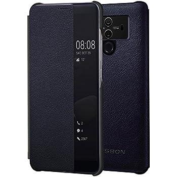 JASBON Coque Huawei Mate 10 Pro, Étui Housse Rabattable Protection Complète, Coque Anti Choc en Cuir Souple pour Huawei Mate 10 Pro - Bleu foncé
