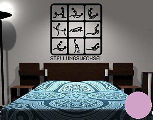 farben schlafzimmer waende Klebefieber Wandtattoo Stellungswechsel B x H: 80cm x 87cm Farbe: Flieder