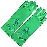 Frozen - Princesa Elsa, vestido de disfraz cosplay, guantes para niños de 2 - 9 años, color verde (Katara)