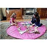 ColorMax Tapis-sac de rangement pour jouets Rose (Taille L: 150cm)