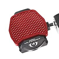 SPD-SL Road Bike Clipless Pedal Convert to Universal Platform Pedal Adapters for Shimano SPD-SL or KEO System Pedal Red (for Shimano SPD)
