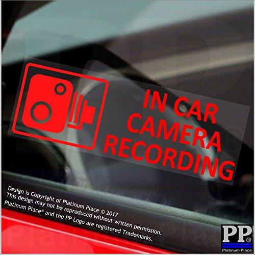 """5 x Autoaufkleber mit Aufschrift """"In Car Camera Recording"""", durchsichtiger Aufkleber mit roter Schrift, für Lieferwagen, Lkw, Taxi, Bus, Dashcam"""
